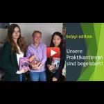 Verabschiedung begeisterter Praktikantinnen bei indayi edition // Sommer 2019