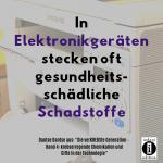 """Spruch des Tages 02. Oktober 2019: """"Krebsprävention durch Vermeidung von Giften in der Technologie"""""""