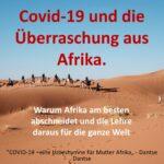 Covid-19 und die Überraschung aus Afrika. Warum Afrika am besten abschneidet und die Lehre daraus für die ganze Welt