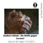Saubere Hände - die Waffe gegen Corona? - Tag des Händewaschens