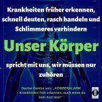 """Spruch des Tages 12. August 19: """"KörperWARNsignale verstehen"""""""