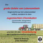 Gefahr durch Chemikalien in Lebensmitteln / Spruch des Tages 31. Dezember 2019