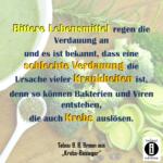 Bittere Lebensmittel regen die Verdauung an / Spruch des Tages 07. Januar 2020