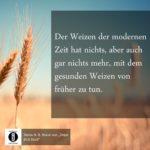 Weizen und Weizen / Spruch des Tages 03. März 2020